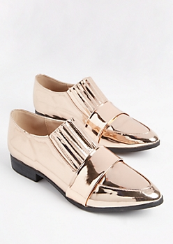 Rose Gold Metallic Tuxedo Flat By Qupid