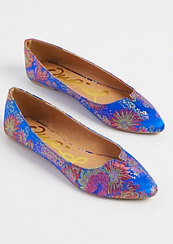 Floral Embroidered Flat By Qupid