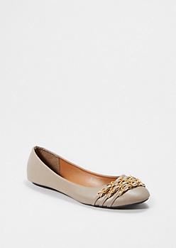 Taupe Chain Linked Flat