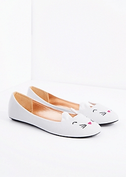 White Cat Ballet Flat