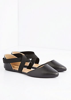 Wrapped Pointed Toe Flat