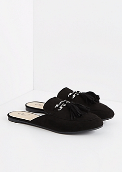 Black Tasseled Slip-On Loafer