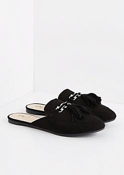 Black Tasseled Slip-On Loafer