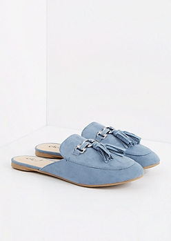 Blue Tasseled Slip-On Loafer