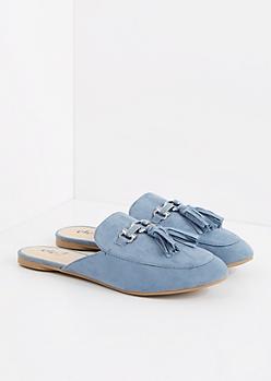 Blue Tasseled Slip-On Loafer