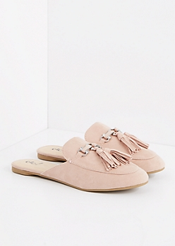 Pink Tasseled Slip-On Loafer