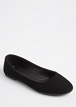 Black Basic Ballet Flat By Wild Diva