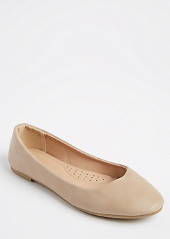Cream Basic Ballet Flat By Wild Diva