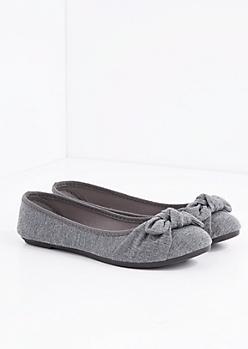 Gray Bow Tie Flat