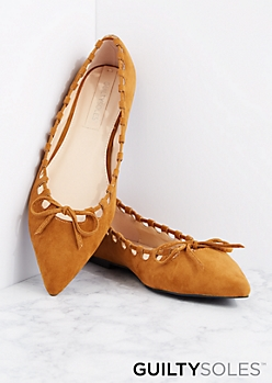 Camel Jet Lace-Up Flat By GuiltySoles