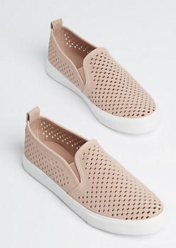 Pink Cutout Slip On Sneaker