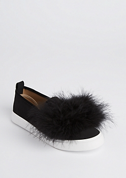 Feathered Slip On Sneaker