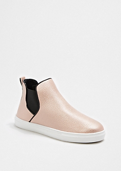 Rose Gold High Top Skate Shoe By Qupid®