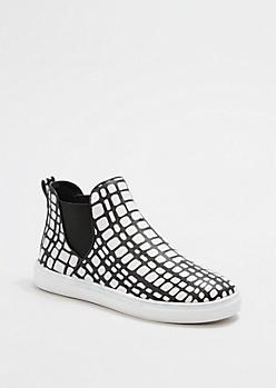 Snakeskin Print High Top Skate Shoe By Qupid®