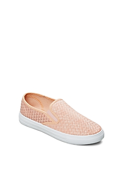 Medium Pink Woven Skate Shoe By Qupid®
