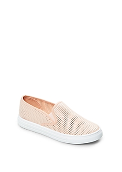 Light Pink Perforated Skate Shoe By Qupid®