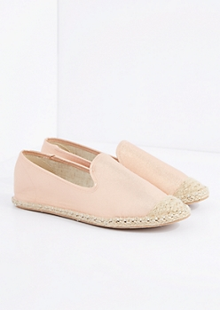 Rose Gold Espadrille Flat By Qupid®