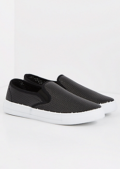 Black Perforated Sneaker