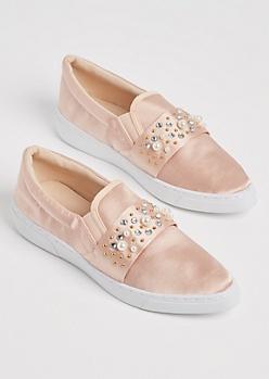 Pink Pearl Sateen Skate Shoe