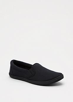 Black Canvas Skate Shoe by Wild Diva®