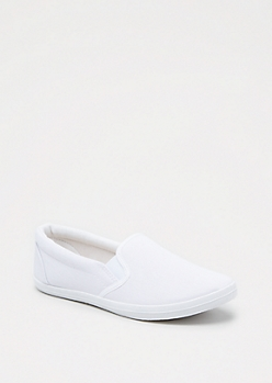 White Canvas Skate Shoe by Wild Diva®