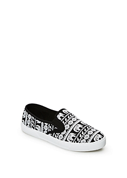 Black Tribal Elephant Skate Shoe By Wild Diva®