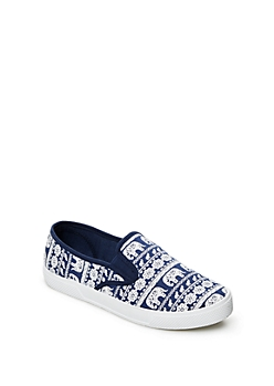 Blue Tribal Elephant Skate Shoe By Wild Diva®