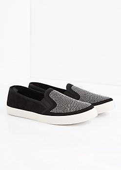 Black Studded Skate Shoe