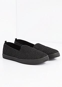 Black Aztec Crochet Skate Shoe