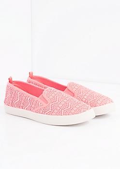 Coral Aztec Crochet Skate Shoe
