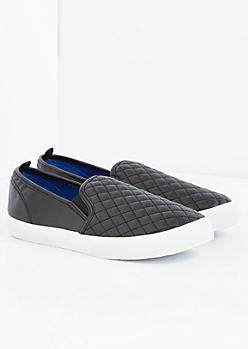 Trapunto Vegan Leather Skate Shoe