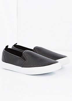 Black Perforated Skate Shoe