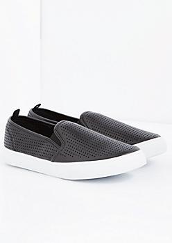 Black Perforated Skate Shoe