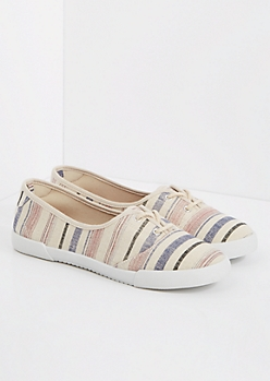 Striped Canvas Slip-On Sneaker