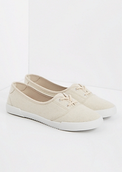Nude Canvas Slip-On Sneaker