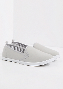 Gray Classic Canvas Skate Shoe