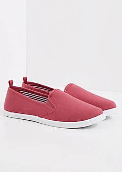 Dark Pink Classic Canvas Skate Shoe
