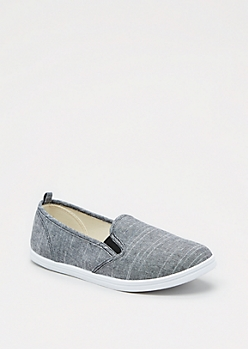 Black Chambray Skate Shoe