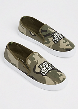 Not Sorry Camo Skate Shoes
