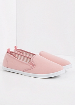 Light Pink Jersey Skate Shoe
