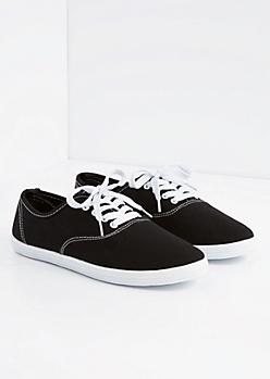 Black Canvas Oxford Sneaker