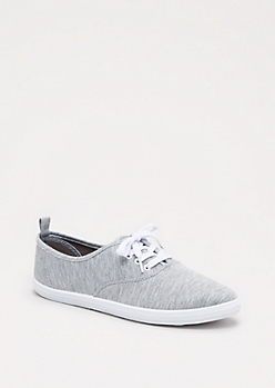 Grey Canvas Oxford Sneaker