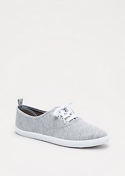 Grey Canvas Oxford Sneaker