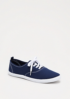 Navy Canvas Oxford Sneaker