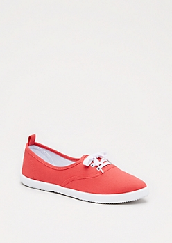 Coral Pointed Toe Low Top Sneaker