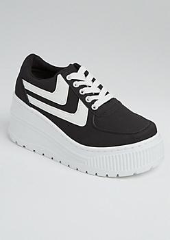 Black Extreme Platform Sneakers