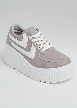 Gray Extreme Platform Sneakers