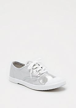 Metallic Silver Sneaker by Wild Diva®