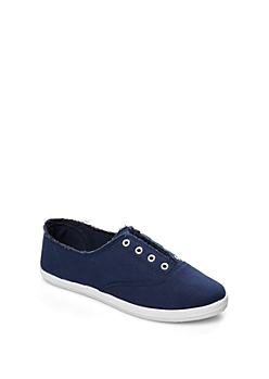 Navy Laceless Vintage Sneaker By Wild Diva®