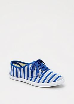 Striped Low Top Sneaker by Wild Diva®